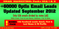 USA Opt In Emails I -II + Bonus