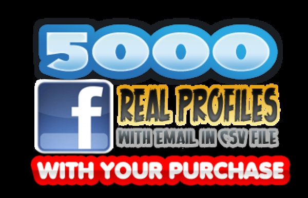 Product picture AIO Pack Facebook - With 5000 Real Profiles!!!